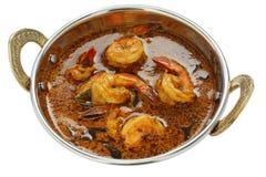 Krewetka curry, indyjski jedzenie obrazy stock