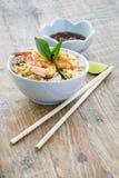 krewetka smażący ryż Zdjęcia Royalty Free