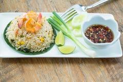 krewetka smażący ryż Obrazy Stock