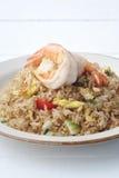 krewetka smażący ryż fotografia stock