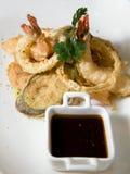 Krewetki i warzywa tempura Obrazy Stock