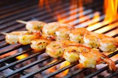 Krewetki mierzeja na grillu Zdjęcie Royalty Free