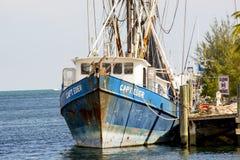 Krewetkowa łódź Obraz Royalty Free