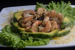 Krewetkowa sałatka z avocado Obraz Royalty Free