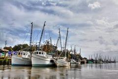 Krewetkowe łodzie Fotografia Royalty Free