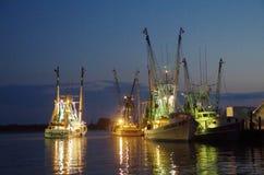 Krewetkowe łodzie Obrazy Stock