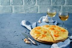 Krewetkowego czosnku tandetna pizza Obrazy Royalty Free