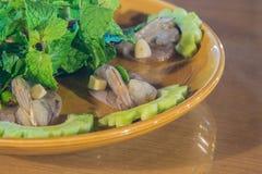 Krewetkowy jedzenie Fotografia Royalty Free
