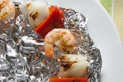 Krewetkowy kebab Zdjęcie Stock