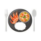 krewetkowy zupny korzenny Obraz Stock