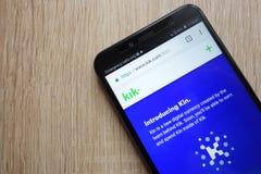 Krewni cryptocurrency strona internetowa wystawiająca na Huawei Y6 2018 smartphone zdjęcia royalty free