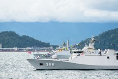 KRI苏丹Hasanuddin 366,斯格码类印度尼西亚海军轻武装快舰  免版税库存图片