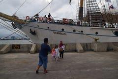 KRI Dewaruci Stop in Port of Tanjung Emas in Semarang Stock Image