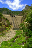 Balkans dam wall Stock Photo