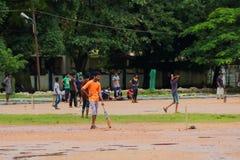 Kricket in Cochin (Kochin) von Indien Lizenzfreie Stockbilder