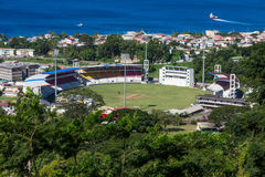 Kricket-Stadion in Dominica stockfotos