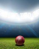 Kricket-Stadion und Ball stockfoto