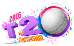 Kricketball für Meisterschaft des Kricket-T20 vektor abbildung