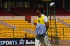 Kricketspieler Sreenath Aravind Lizenzfreie Stockfotos