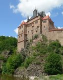 Kriebstein castle in Saxony. Medieval castle in southern Germany Royalty Free Stock Photos