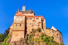 Kriebstein slott i Sachsen, Tyskland royaltyfri fotografi