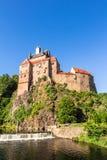 Kriebstein slott i Sachsen, Tyskland royaltyfria foton