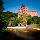 Kriebstein slott, Sachsen, Tyskland Arkivfoton