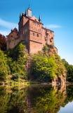 Kriebstein slott, Sachsen, Tyskland Arkivbilder