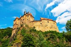 Kriebstein småstad i Sachsen, Tyskland royaltyfria foton