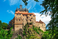 Kriebstein småstad i Sachsen, Tyskland royaltyfri foto