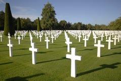 Krieg-Gräber in Normandie Stockfotos