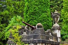Krieg Kanone-Peles Schloss Lizenzfreie Stockfotos