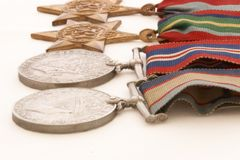 Krieg-Medaillen Stockfotografie