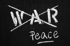 Krieg und Frieden lizenzfreies stockfoto
