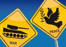 Krieg und Frieden lizenzfreie abbildung