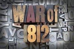 Krieg von 1812 stockbild