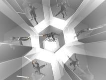 Krieger 3D im silbernen Spiegelraum Lizenzfreies Stockbild