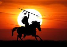 Krieger des amerikanischen Ureinwohners stockfoto