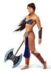 Krieger - Frau mit einer Axt lizenzfreie stockbilder