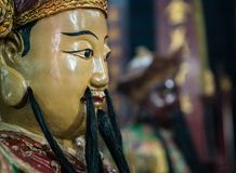Krieger von Kwan Tai Temple Stockbild