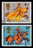 Kriegers-Briefmarke Großbritanniens Medievil Stockbild