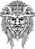 Kriegers-Stammes- Masken-Vektorillustration Lizenzfreie Stockfotografie
