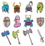 Kriegers-Waffe und Ausrüstung Stockfotos