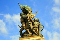 Kriegerstatue in Rom Stockfotografie