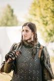 Kriegersteilnehmer VI des Festivals von mittelalterlichem Stockfoto