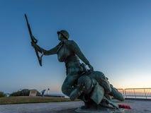 Kriegsdenkmal auf Omaha-Strand in Normandie Frankreich lizenzfreies stockbild