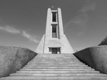 Kriegsdenkmal Monumento ai Caduti in Como in Schwarzweiss Stockfotografie