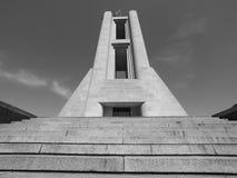 Kriegsdenkmal Monumento ai Caduti in Como in Schwarzweiss Stockfoto