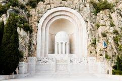 Kriegsdenkmal, Nizza, Frankreich Lizenzfreie Stockfotografie