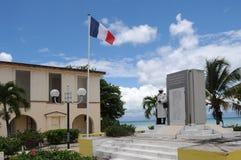 Kriegsdenkmal von Port Louis in Guadeloupe stockbilder